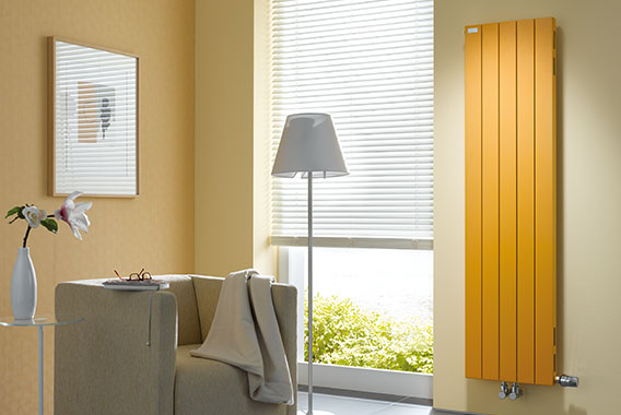 Radiatore Arbonia Decotherm Plus, verticale, giallo sunny day